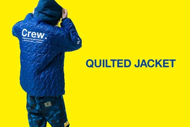A BATHING APEからSTA パターンをキルティングしたジャケット「QUILTED JACKET」が2/10発売 (ア ベイシング エイプ)