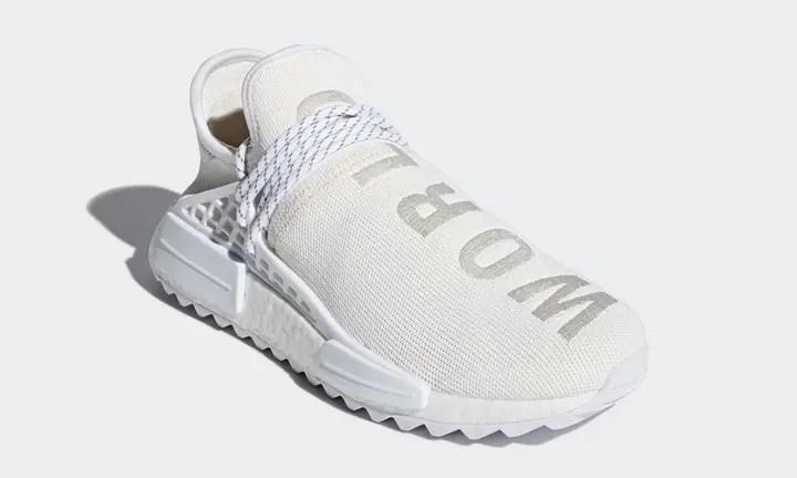 """3/2発売予定!Pharrell Williams x adidas Originals NMD TRAIL Holi """"HUMAN RACE"""" White (ファレル・ウィリアムス アディダス オリジナルス エヌ エム ディー トレイル ホーリー """"ヒューマン レース"""" 2018 ホワイト) [AC7031]"""