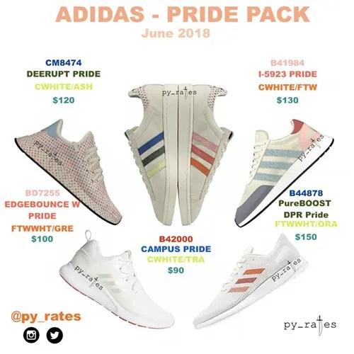 """【リーク】6月展開予定!adidas Originals """"Pride Pack-LGBT"""" 2018 """"CAMPUS/I-5923/DEERUPT/PURE BOOST DPR/EDGE BOUNCE"""" (アディダス オリジナルス """"プライド"""")"""