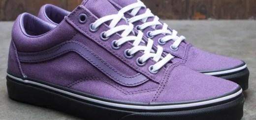 "VANS OLD SKOOL ""BLACK OUTSOLE"" Purple/Black (バンズ オールドスクール ""ブラック アウトソール"" パープル/ブラック)"