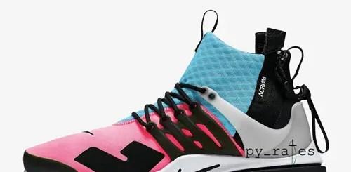 """【リーク】アクロニウム × ナイキ エア プレスト ミッド """"レーサー ピンク/フォト ブルー"""" (ACRONYM NIKE AIR PRESTO MID """"Racer Pink/Photo Blue"""")"""