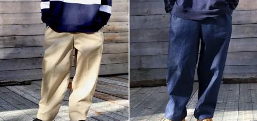 【ロープライス】web限定!CLARK'S SPORTSWEAR ワイドテーパードシルエット EASY PANTS DENIM/TWILL (クラークス)