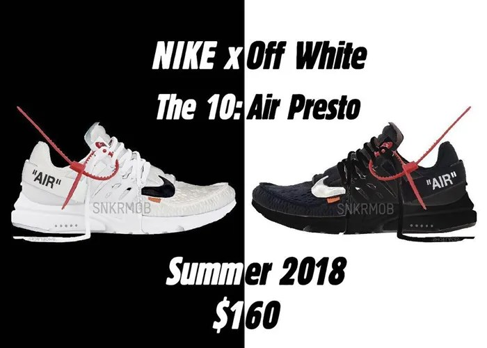 "【リーク】2018年 夏発売!?OFF-WHITE c/o VIRGIL ABLOH × NIKE AIR PRESTO ""Black/White"" ""Part 2"" (オフホワイト ナイキ エア プレスト ""パート 2"" ""ブラック/オフ ホワイト"") [AA3830-002,100]"
