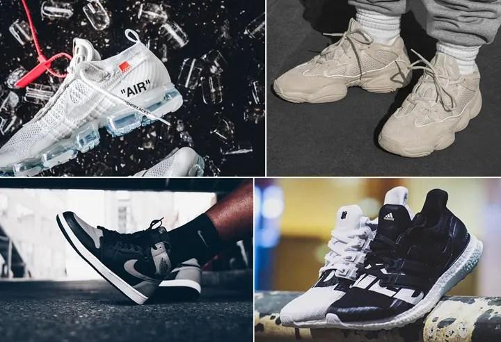 """【まとめ】4/14発売の厳選スニーカー!(OFF-WHITE c/o VIRGIL ABLOH × NIKE AIR VAPORMAX """"Part 2"""" White)(adidas YEEZY DESERT RAT 500 """"Blush"""")(AIR JORDAN 1 RETRO HIGH OG """"SHADOW"""")(UNDEFEATED x adidas 2018 S/S)他"""