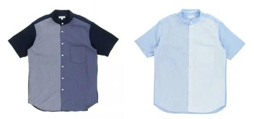 クレイジーパターンカラーを採用したBEAUTY&YOUTH バンドカラー シャツが5/15発売 (ビューティアンドユース)