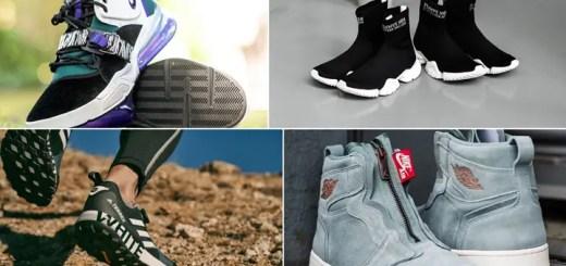 """【まとめ】5/18発売の厳選スニーカー!(NIKE AIR FORCE 270 """"Black/Court Purple"""")(REEBOK SOCK RUNNER PRINT """"Black/White"""")(adidas Originals by White Mountaineering 2018 S/S Terrex Two Boa)(WMNS AIR JORDAN 1 HIGH Zipper """"Mica Green"""")他"""
