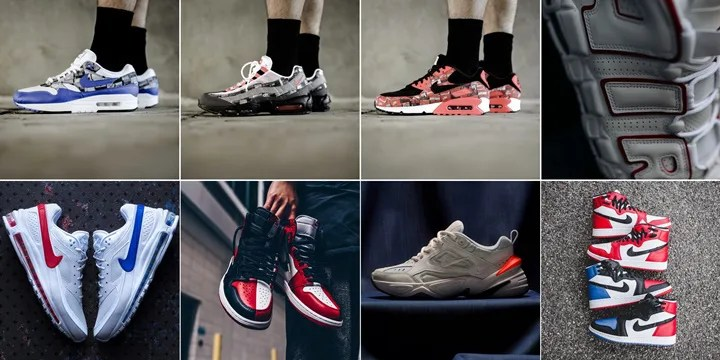 "【まとめ】5/19発売の厳選スニーカー!(NIKE AIR MAX 1/90/95 ATMOS ""WE LOVE NIKE"")(AIR JORDAN 1 RETRO HIGH OG NRG ""Homage To Home"")(WMNS AIR JORDAN 1 REBEL XX OG)(AIR MORE UPTEMPO ""White/Varsity Red"")他"