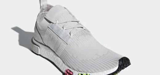 """5/26発売!adidas Originals NMD_RACER PRIMEKNIT {PK} """"Grey One/Solar Pink"""" (アディダス オリジナルス エヌエムディー レーサー プライムニット """"グレー ワン/ソーラ ピンク"""") [CQ2443]"""
