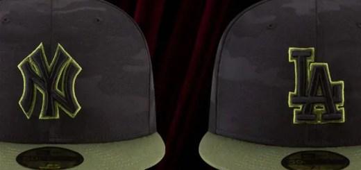 New Eraから、5月最終月曜日の「メモリアルデー(戦没将兵追悼記念日)」シリーズとして、軍事行動で亡くなった兵士に敬意を払い、MLB全チームが着用する迷彩柄をあしらった特別キャップが発売中 (ニューエラ)