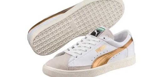 """1970年代前半に生産されていた「PUMA BASKET """"White/Gold""""」が復刻 (プーマ バスケット 90680 G)"""