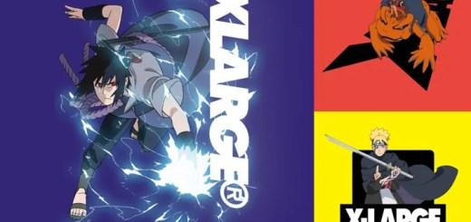 漫画「ナルト/ボルト」 × XLARGE コラボレーションが近日発売 (NARUTO/BORUTO エクストララージ)