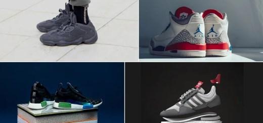 """【まとめ】7/7発売の厳選スニーカー!(adidas YEEZY DESERT RAT 500 """"Utility Black"""")(NIKE AIR JORDAN 3 RETRO """"USA – Sail/Sport Royal/Fire Red"""")(adidas Originals NMD_R1 STLT/STAN SMITH """"Consortium mita sneakers"""")(ZX500 RM """"Grey Four/Grey Five"""")他"""