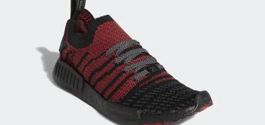 """8/13発売!adidas Originals NMD_R1 PRIMEKNIT {PK} """"Core Black/Collegiate Red"""" (アディダス オリジナルス エヌ エム ディー プライムニット """"コア ブラック/カレッジ レッド"""") [D96817]"""