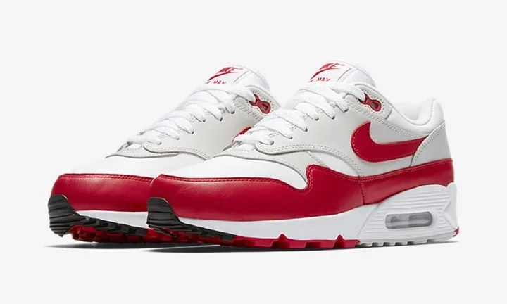 「NIKE W AIR MAX 90/1 (WHITE/UNIVERSITY RED-NEUTRAL GREY-BLACK) 【SP】」の画像検索結果