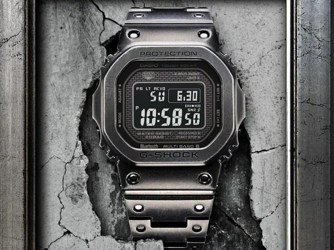 ステンレスのケースとバンドに経年加工を施した G-SHOCKスペシャルモデル「GMW-B5000D」が6/7発売 (Gショック ジーショック)