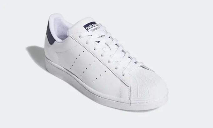 """2/28発売!アディダスの2大名作「スーパースター」+「スタンスミス」=「スーパースタン SUPERSTAN」ニューカラー「クラウドホワイト/カレッジネイビー」 (adidas Originals SUPERSTAR STAN SMITH """"Cloud White/Collegiate Navy"""") [FX3905]"""