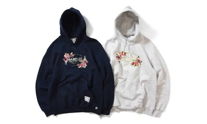 カラフルな薔薇を配置したSAMPLES × RUSSELL ATHLETIC コラボフーディが1/16発売 (サンプルズ ラッセル・アスレチック)