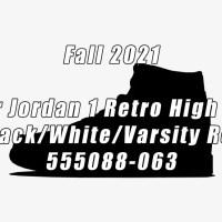 """2021年 秋 発売予定!ナイキ エア ジョーダン 1 レトロ ハイ OG """"ブラック/ホワイト/バーシティレッド"""" (NIKE AIR JORDAN 1 RETRO HIGH OG """"Black/White/Varsity Red"""") [555088-063]"""