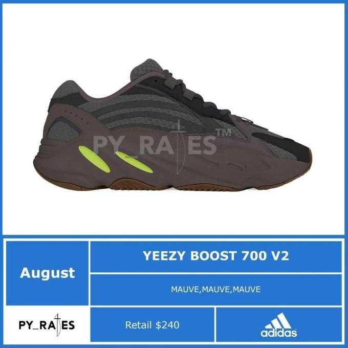 """8月発売予定!アディダス オリジナルス イージー 700 V2 """"モーブ"""" (adidas Originals YEEZY 700 V2 """"Mauve"""")"""