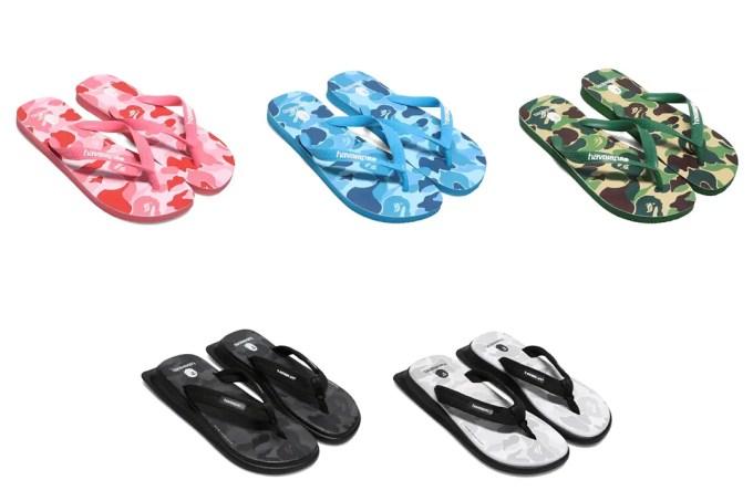 A BATHING APE × ブラジル製のビーチサンダルのブランド「Havaianas/ハワイアナス」コラボが8/1 発売 (ア ベイシング エイプ)