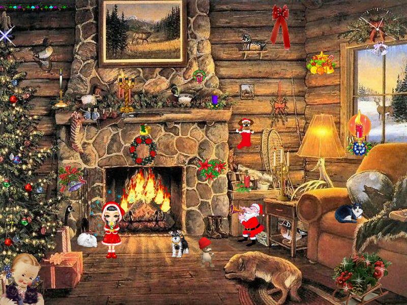 Animated Snow Falling Wallpaper Free Download Christmas Paradise Screensaver For Windows Christmas