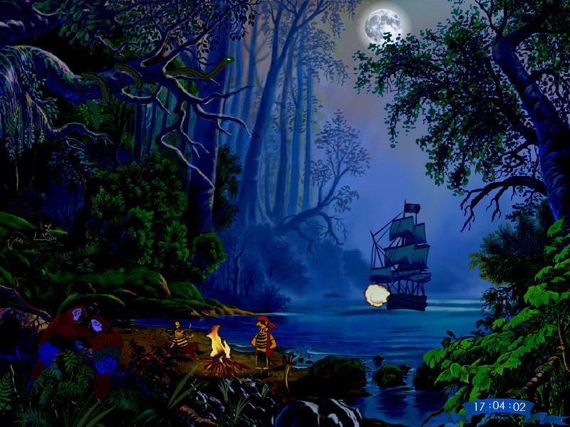 Download Snow Fall Animated Wallpaper Free Screen Savers Treasures Island Fullscreensavers Com