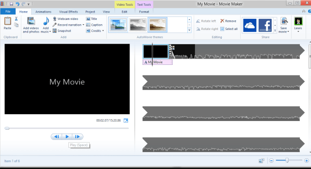 Windows Movie Maker windows