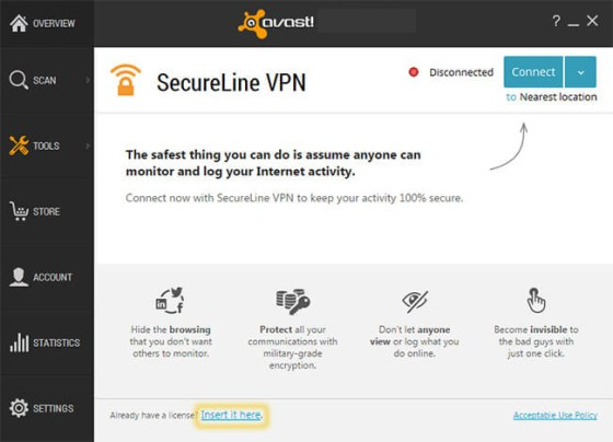 Avast Secureline Vpn windows