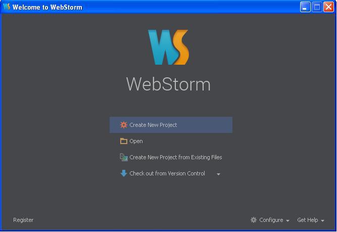 WebStorm windows