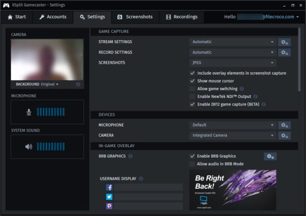 XSplit Gamecaster latest version