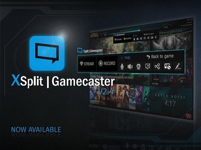 XSplit Gamecaster windows