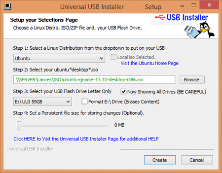 Universal USB Installer windows