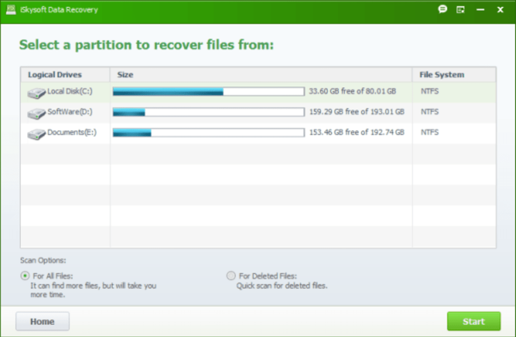 iSkysoft Data Recovery latest version