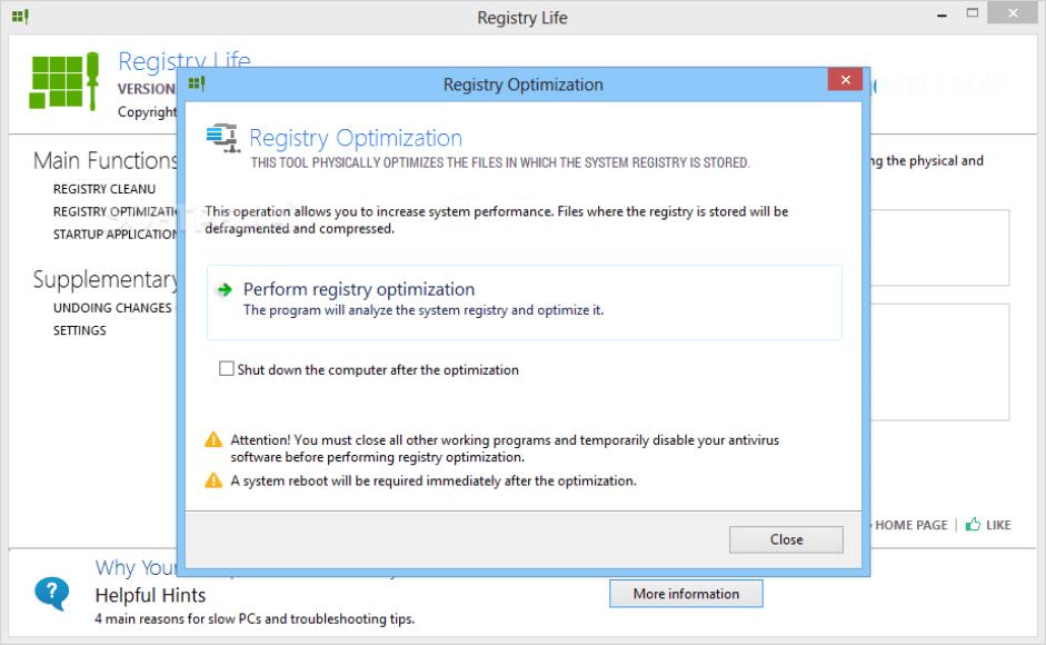 Registry Life windows