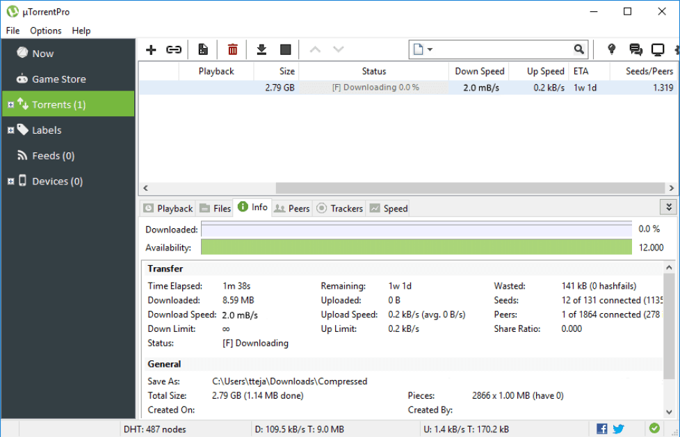 uTorrent Pro windows