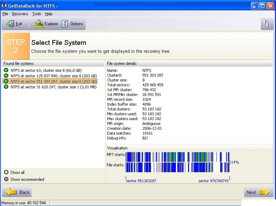 GetDataBack for NTFS windows