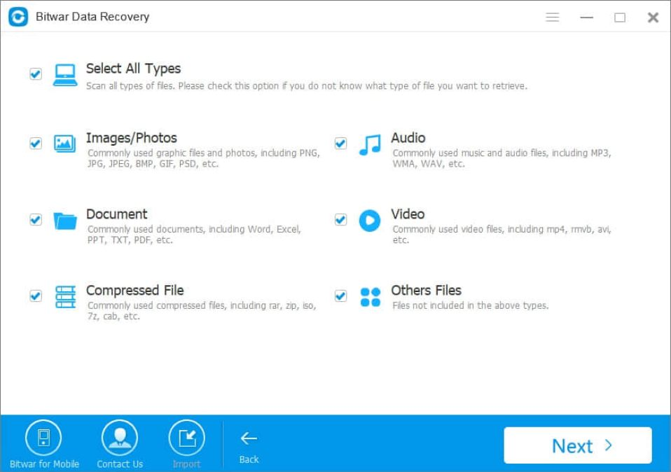 Bitwar Data Recovery latest version
