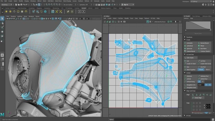 AutoDesk Maya windows