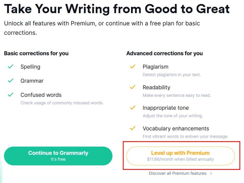 Grammarly Premium windows