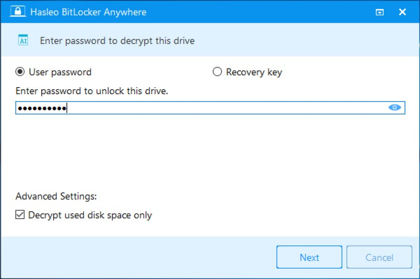 Hasleo BitLocker Anywhere latest version