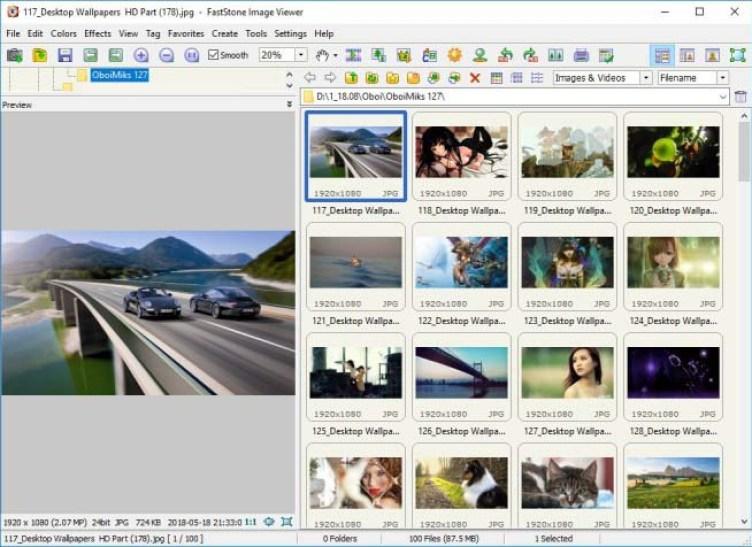 FastStone Image Viewer windows