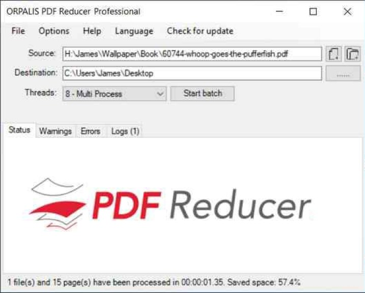 ORPALIS PDF Reducer Professional windows