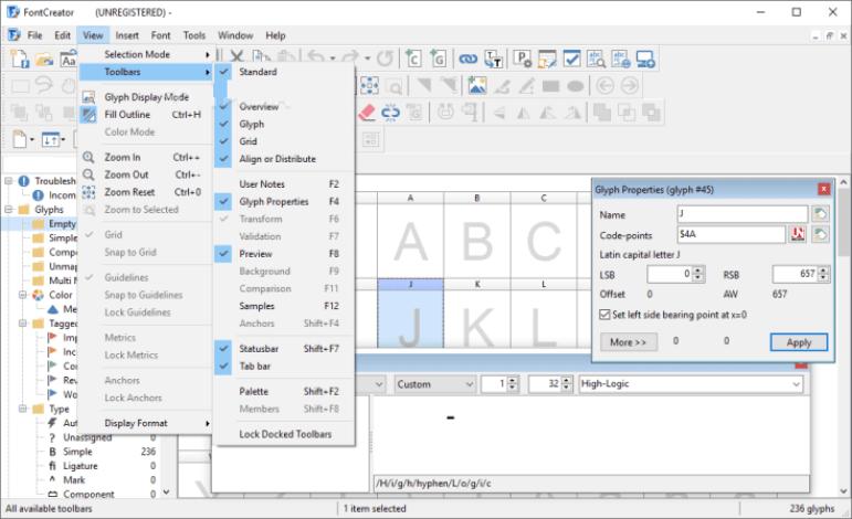 FontCreator windows
