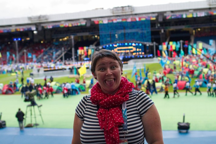 Me at the closing ceremony of the Glasgow 2014 Commonwealth Games