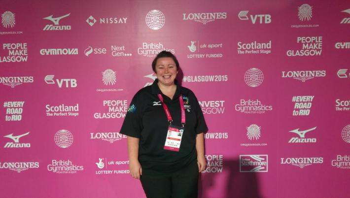 Me volunteering at the World Championships 2015
