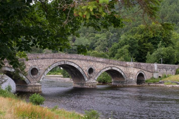 Kenmore bridge, Perthshire. Stone bridge over the river Tay