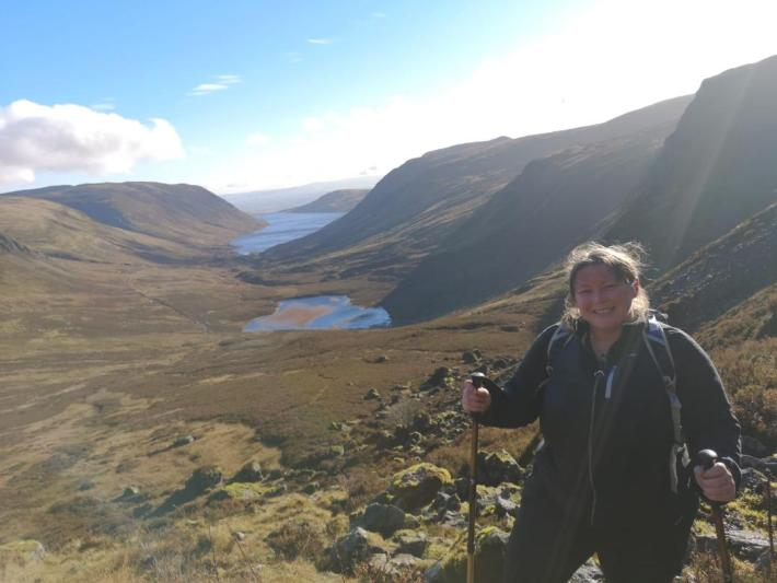 Me stood above Loch Turret in Perthshire