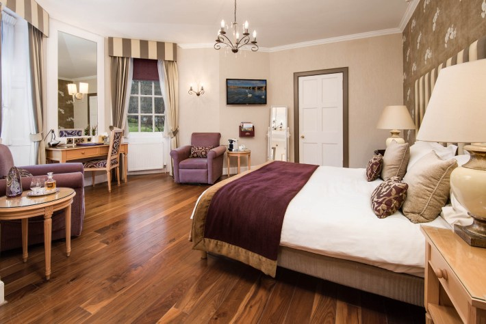 Bedroom suite at Cringletie House, Scottish Borders