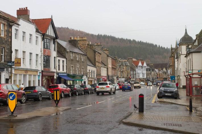 Peebels High Street, Scottish Borders