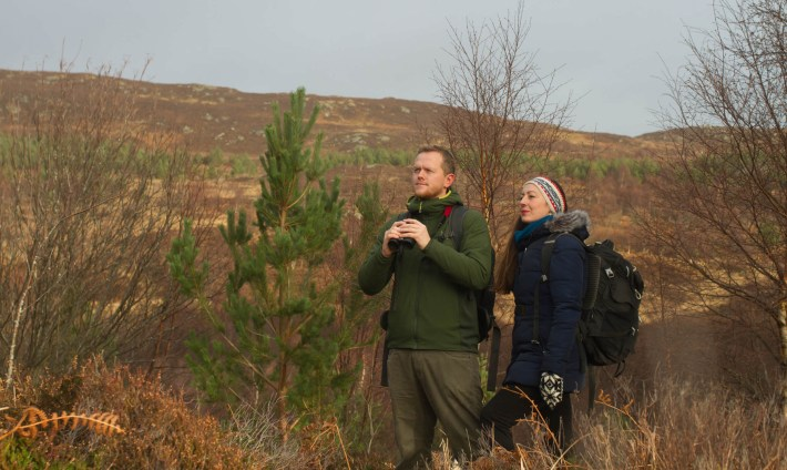 The Wild Pioneers, Scotland, Alex and Espen stood in the Scottish Highlands